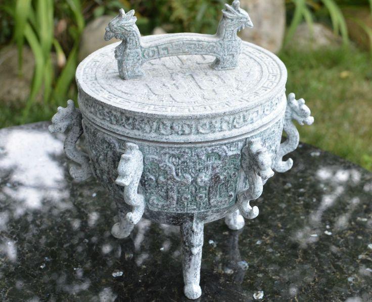 James Mont Metal Ice Bucket Asian Motif Mid Century Modern design eames vintage
