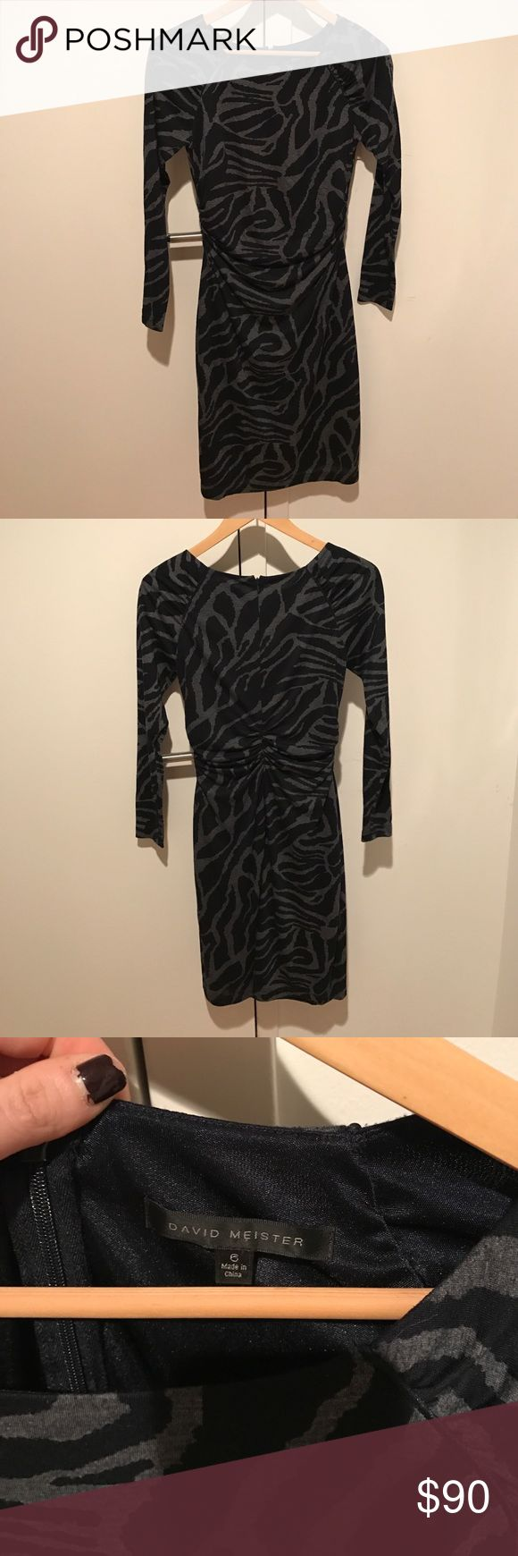 DAVID MEISTER dress Take the LBD up a notch with this gorgeous piece from David Meister. Barely worn and in fantastic condition! David Meister Dresses Long Sleeve