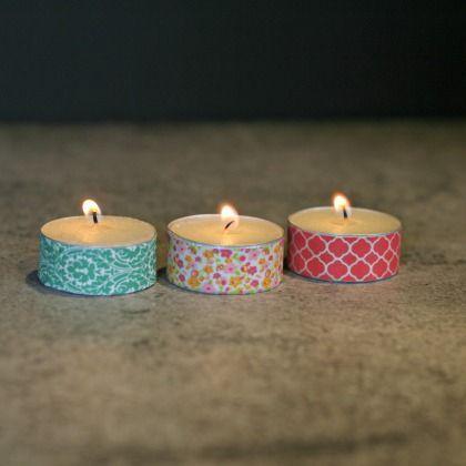 DIY Craft Day - Washi Tape Tea Lights
