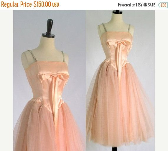 1950s Prom Dress 50s Prom Dress Vintage by SassySisterVintage
