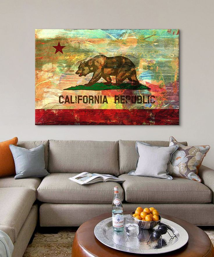 Look what I found on #zulily! Pattern Fade California Flag Wrapped Canvas by iCanvas #zulilyfinds