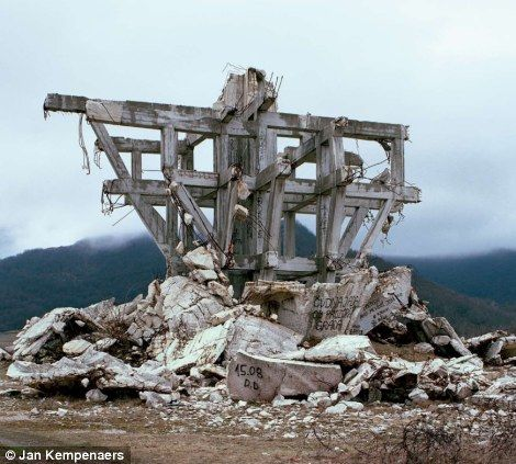 Ghostly stones of a nation's past: The futuristic war memorials of former…
