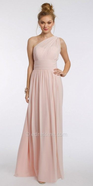 Camille La Vie One Shoulder Chiffon Evening Dress