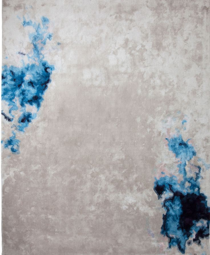 Tai Ping #Carpets, Chroma Collection, Diffusion: This #rug is reminiscent of catching a glimpse of a #cloud before it fades away. This subtle gradation in an unusual palette of light pink, Caribbean #blue and deep purple is captured with a mixture of wool and delicate #silk high cut pile.