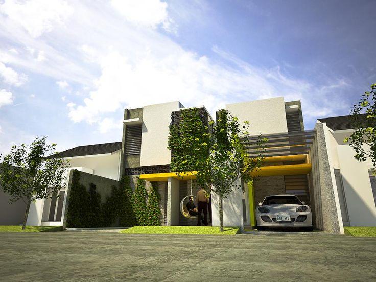 """Arsitek IMAjinasi RUmah Studio: RUMAH RAMAH LINGKUNGAN """"30% area hijau dalam fasade"""""""