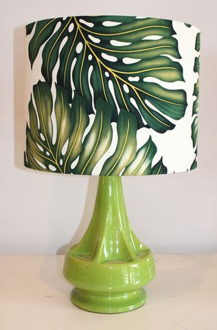 retro vintage lime green lamp