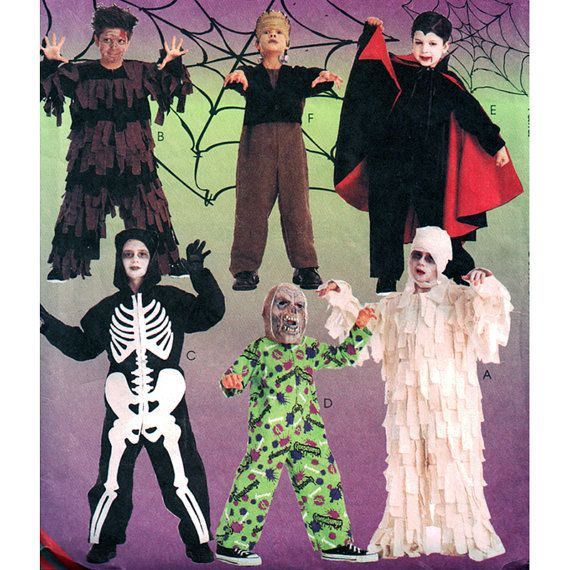 mccalls sewing pattern 2860 childrens scary halloween costumes size ce - Childrens Halloween Costume Patterns