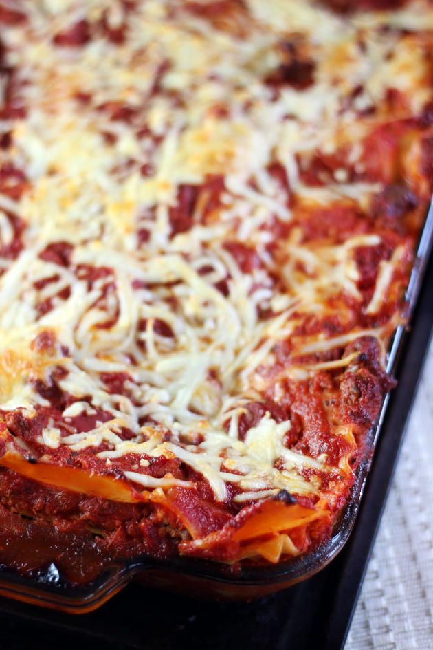 Ina Garten Lasagna has creamy goat cheese in between the layers. How fantastic is that?