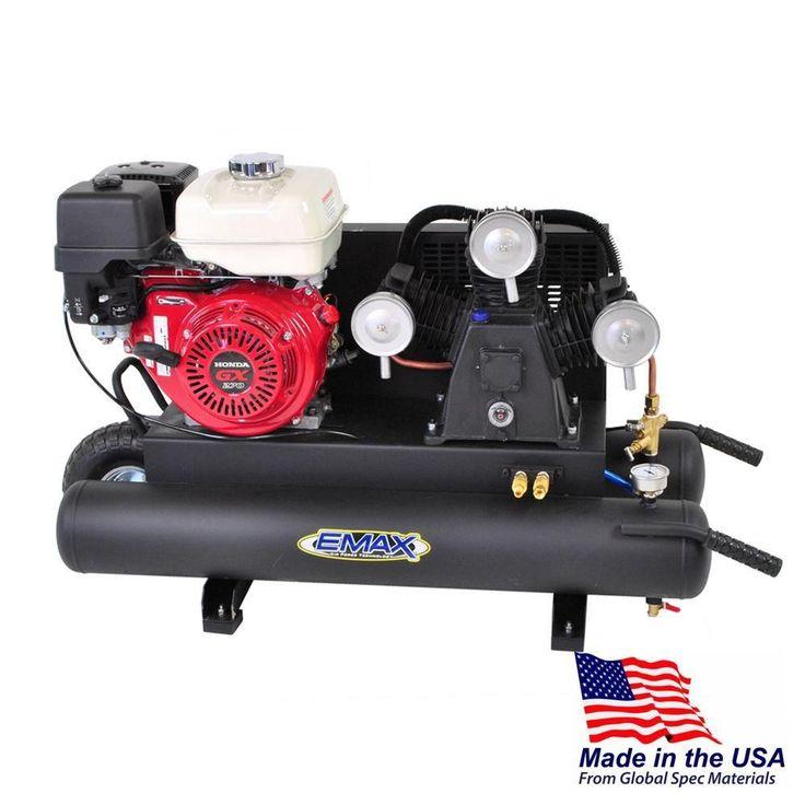 10 gal. 9 HP Portable Gas Wheelbarrow Air Compressor with Honda GX270 Engine