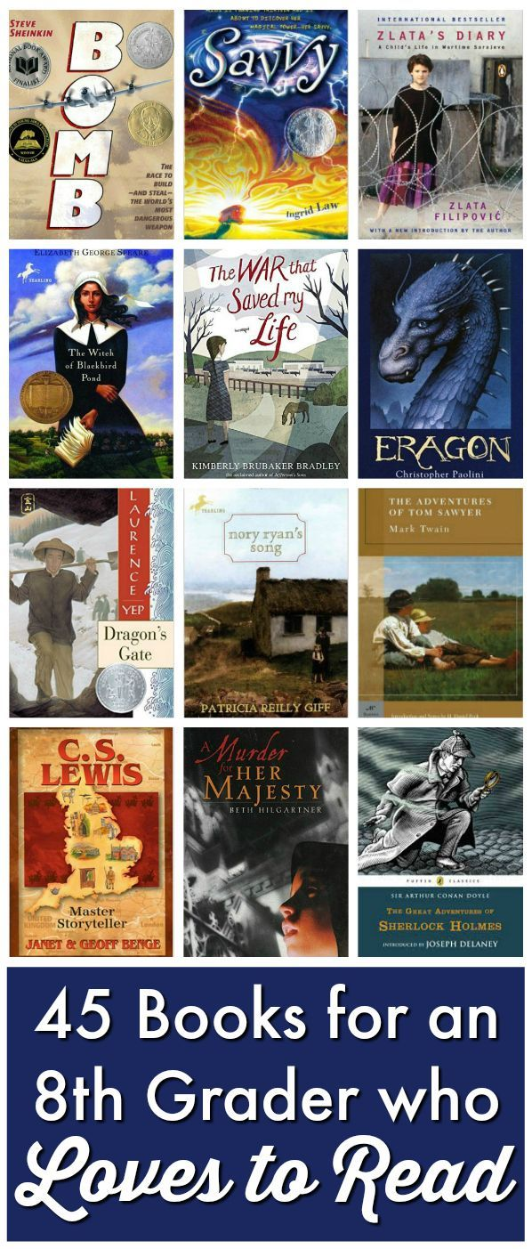 Keep your voracious reader satisfied with this list: 45 Books for an 8th Grader who loves to read! from Walking by the Way