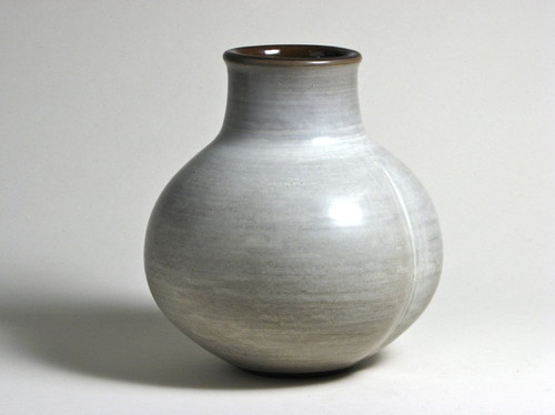 Claremont potter Rupert Deese in 1996, with a lined decorative effect over the entire outside of the vessel.  For those unfamiliar with Rupert Deese, he was studio mate alongside potter Harrison McIntosh for several decades.