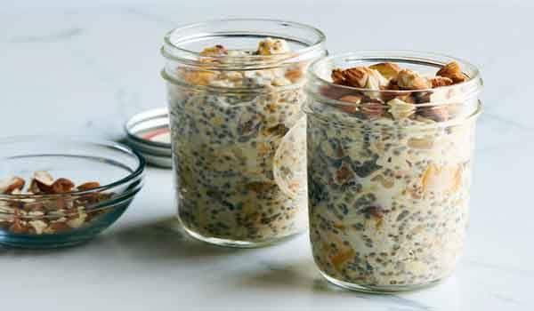 طريقة عمل الشوفان للتخسيس Recipes Breakfast Dishes Overnight Oats Recipe