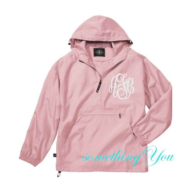 Something You - Pink Monogrammed Beachcombers Jacket - Personalized Quarter Zip Pullover Windbreaker Charles River, $36.95 (http://www.somethingyou.com/clothing/windbreakers/pink-monogrammed-beachcombers-jacket-personalized-quarter-zip-pullover-windbreaker-charles-river/)