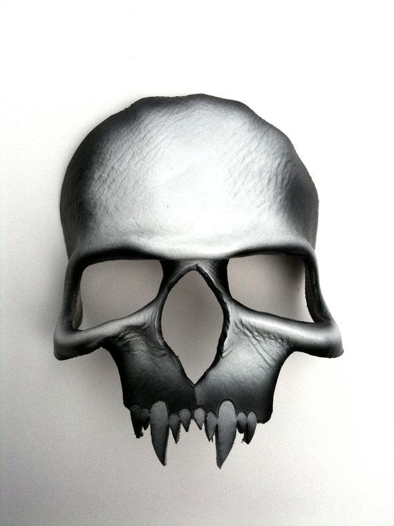 Vampire Skull Leather Mask by mrhydesleather on Etsy