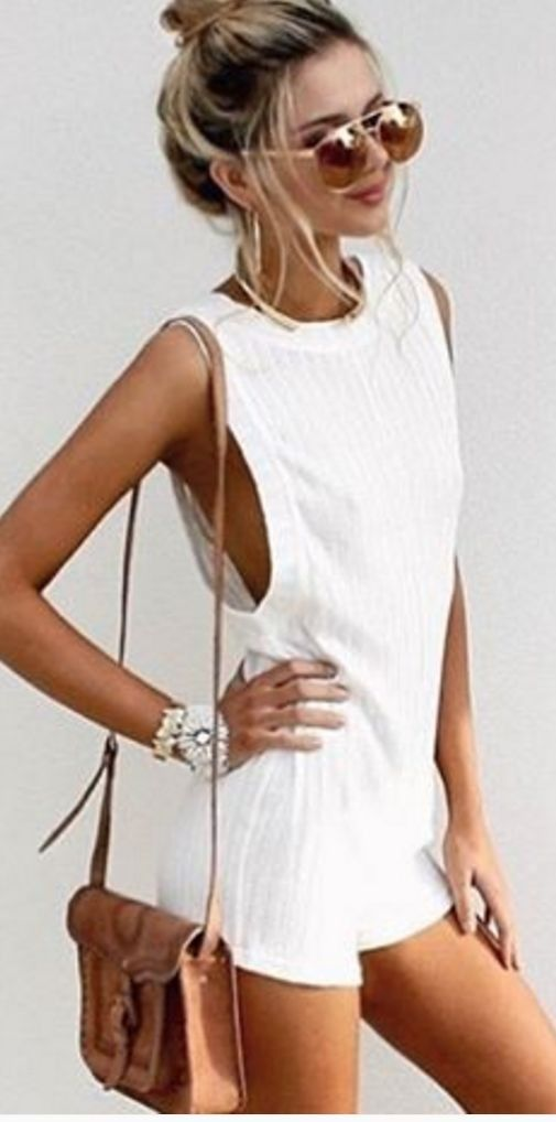 #summer #musthave #outfits  White Sexy And Comfy Romper
