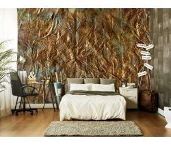 Carta da parati dorata - una decorazione che non ti lascia indifferente #carta da parati  #wallpapers #cate da parati #dorato #gold #decorazioni #parete #design #home #decor