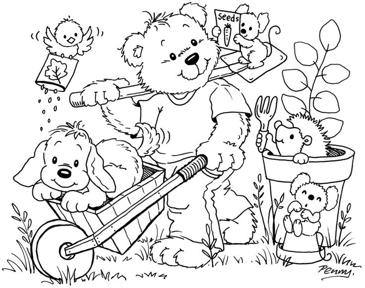 Gardening Fun 1104x870 Kids ColoringColoring SheetsAdult