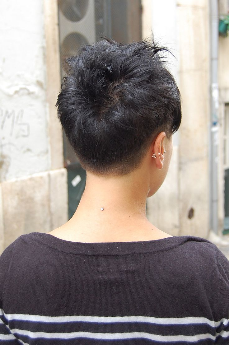 short pixie haircut by silvia, wip hairport lisbon