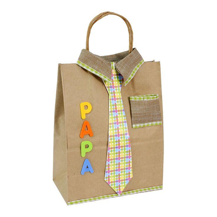 Proyectos  Bolsa de regalo camisa de papá con corbata