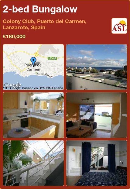 2-bed Bungalow in Colony Club, Puerto del Carmen, Lanzarote, Spain ►€180,000 #PropertyForSaleInSpain