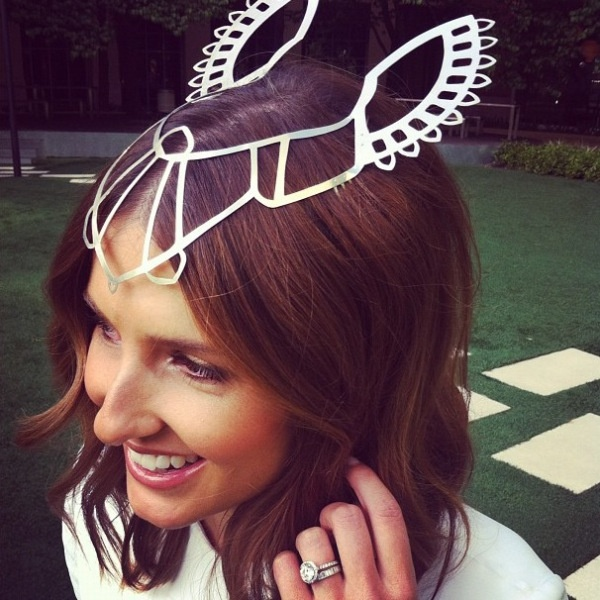 Easily the best headpiece of the Spring Racing Carnival!! Kate Waterhouse via MaddieMelbourne