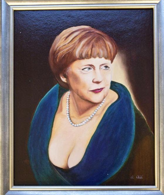 Die Kanzlerin wird 60: BILD-Leser malen Angela Merkel ...