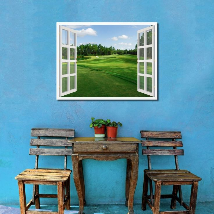 Fleming Island Golf Club French 3D Window Home Dcor Gift Ideas 23012 SpotColorArt PopArt
