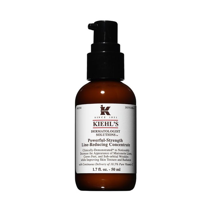 R950. Kiehl's Powerful-Strength Line-Reducing Concentrate 50ml. Clinically demonstrated to improve overall skin texture, tone, & radiance, while reducing the appearance of lines & wrinkles. Provides anti-oxidant protection & exfoliates skin.