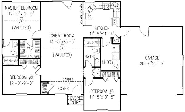 1200 square foot house plans ranch style house plans for Monster mansion mobile home floor plan