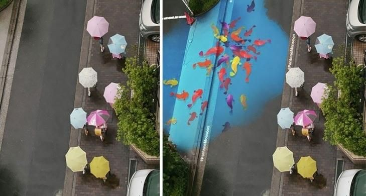 Proyecto Monzón: pinturas que se ven solo cuando llueve | La Reserva