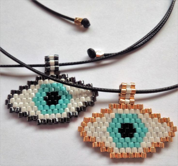Seed Bead Eye Necklace, Aqua Eye Necklace, Lucky Charm, Beadwork Necklace, Beaded jewelry, Made in Greece, SouSou Necklace, Gifts for her by SouSouHandmadeArt on Etsy
