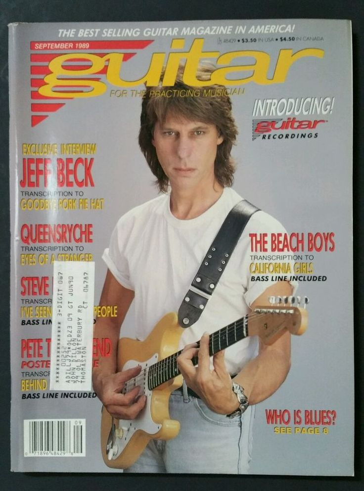 Guitar For The Practicing Musician Magazine September 1989 Steve Howe Jeff Beck