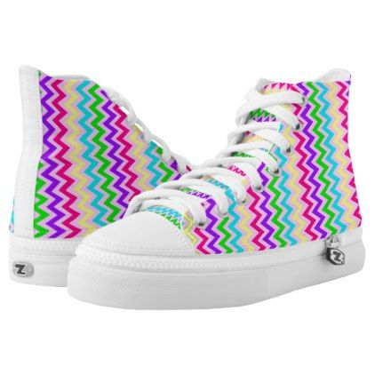 CANDY RAINBOW CHEVRON HIGH-TOP SNEAKER