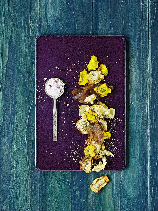 Zöldség chips Nicolas Vahé fűszernövényes sókkal recept #ninivebutik #nicolasvahe #recept
