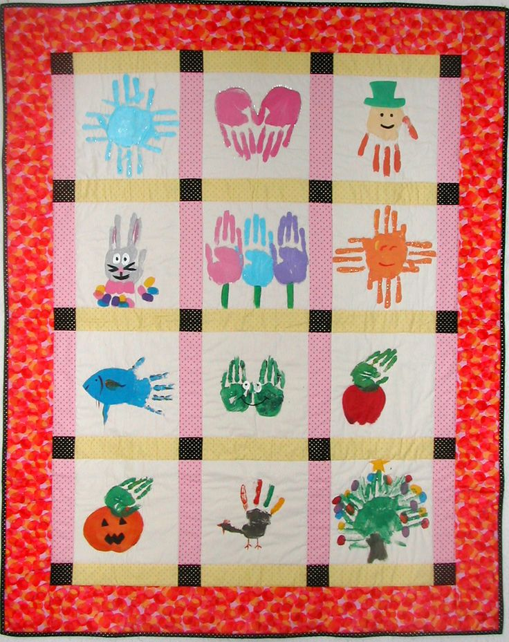Memory Quilts, would be so cool to incorporate the kids own artwork :)