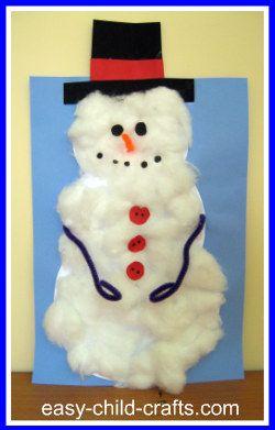 cottonball snowman