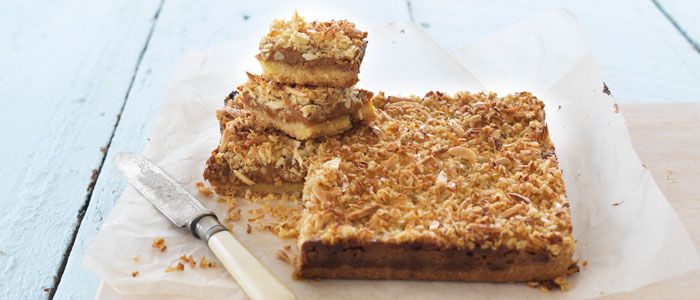 Anzac Caramel Slice recipe from Food in a Minute
