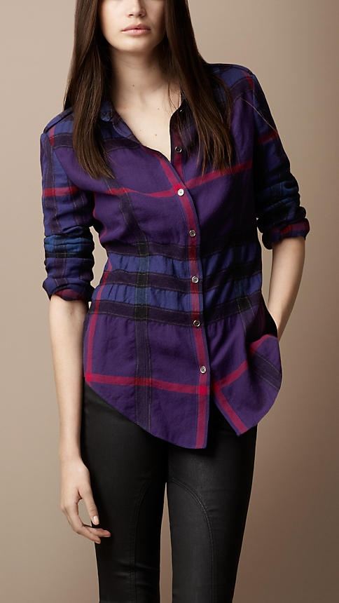 Burberry Brit Felted Check Shirt