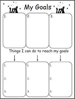 FREE.  Goal Worksheet.  Use this template for your older learners.  Great way to visualize goals and track progress.  Download at:  https://www.teacherspayteachers.com/Product/Planning-Out-My-Goals-532264