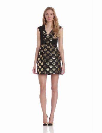 Plenty by Tracy Reese Women's Gold Dot Jacquard Combo Frock Dress http://www.branddot.com/13/Plenty-Tracy-Reese-Womens-Jacquard/dp/B00FNL47OQ/ref=sr_1_76/190-2960570-2967269?s=apparel