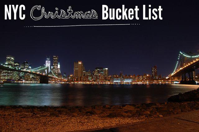 NYC Christmas Bucket List by Stacie Stacie Stacie, via Flickr