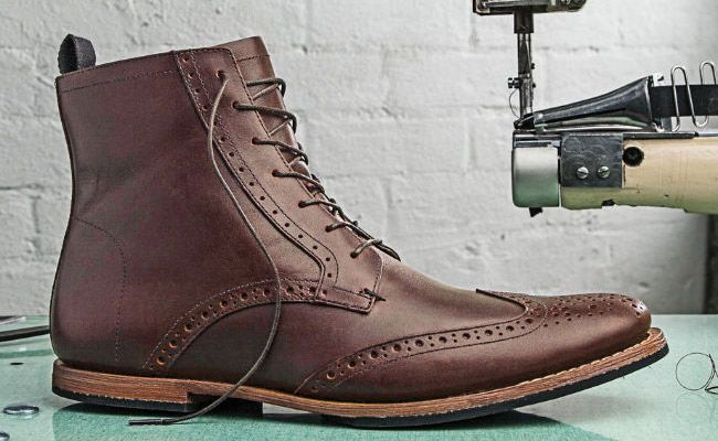 Men's Timberland Boot Company® Wodehouse Wing Boots - Known for their rugged worn-in style, Timberland boots are perfect for that burly masculine look. The Wodehouse Wing Boots are made with quality lightweight leather and brogue details.