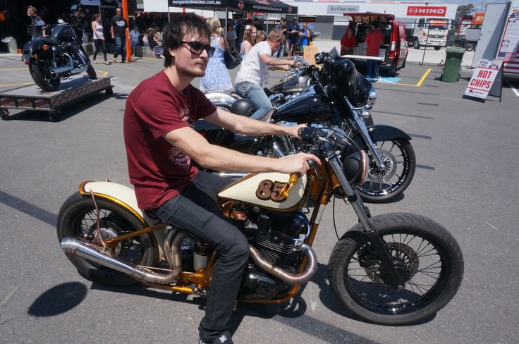 Shane Wright won best non-Harley with his Suzuki GR650 in the show and shine at the Gold Coast Harley-Davidson grand opening. Read all about it at http://motorbikewriter.com/harley-883-iron-dealership/