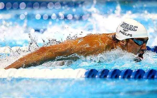 Michael Phelps, competing in the 100-meter butterfly at the U.S. Olympic trials