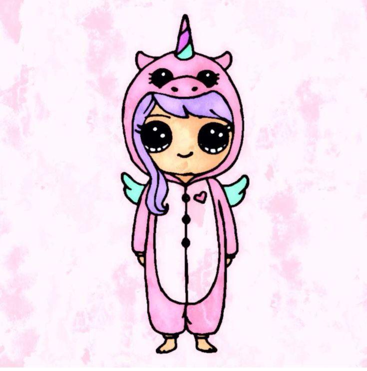 Unicorns Are Real And You Can Be One Today Pin Kawaii Girl Drawings Cute Kawaii Drawings Cute Drawings