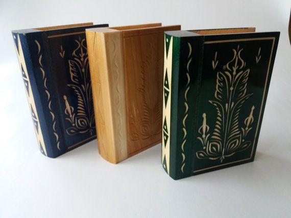 New wooden beautiful jewelry box case,surprise ,secret puzzle magic book box with secret compartment inside,brain teaser
