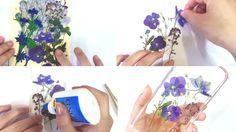 ¡O usa flores de verdad secadas dentro de un libro! | 17 Adorables carcasas de teléfono que puedes hacer en tu propia casa
