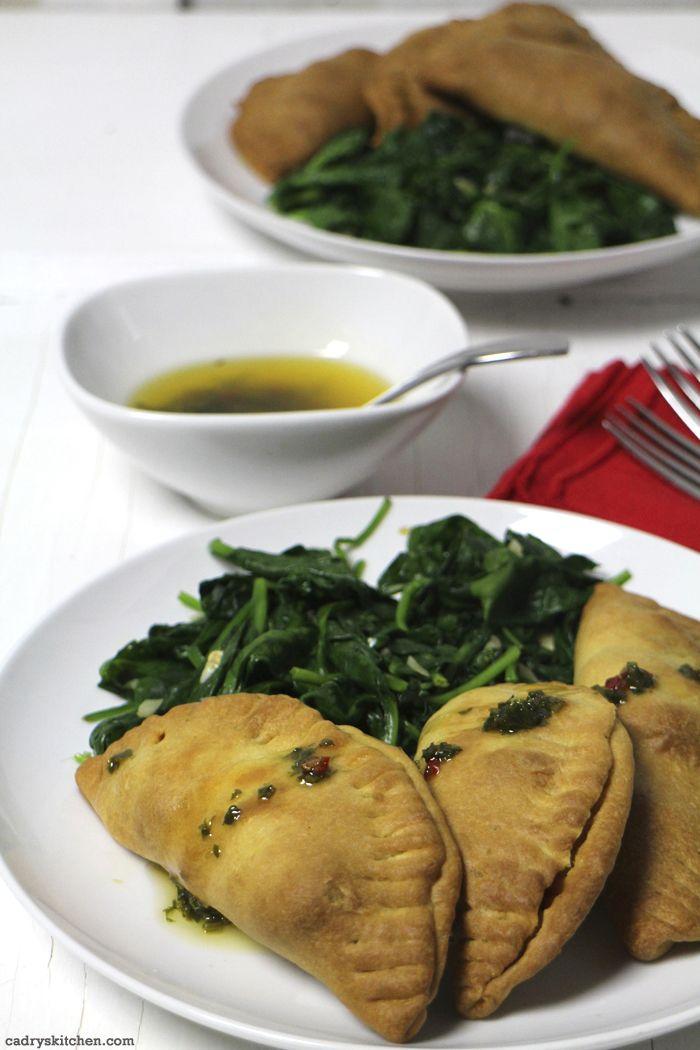 Veggie empanadas from Veestro - Vegan food delivery.  Review + discount code at cadryskitchen.com