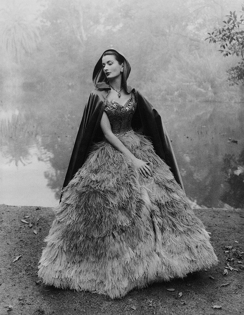 Dramatic fairytale gown and cape.