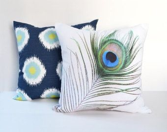Pillow Covers Decorative Pillows Photo Pillow Throw Pillows Peacock Pillow16x16 18x18 20x20